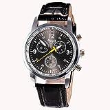 YANG-YI Luxury Fashion Crocodile Faux Leather Analog Round Watch Wrist Watches Men