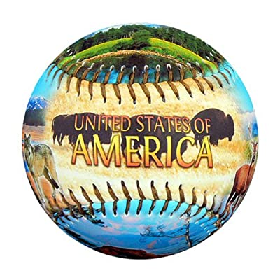 America Natural Wonders Souvenir Baseball