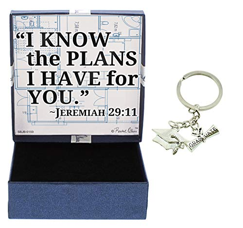 - Grad Gifts I Know The Plans I Have for You Jewelry Box & Graduation Keychain Graduate Key Ring Grad