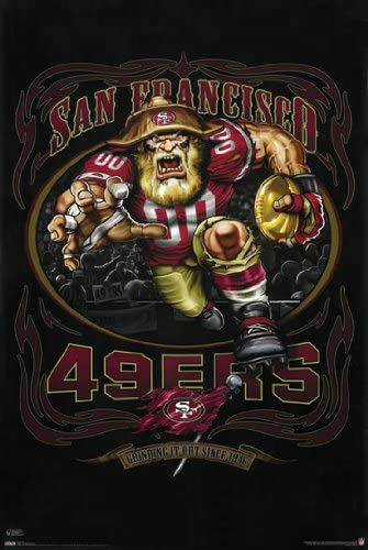 49ers POSTER Running Back RARE HOT NEW 24x36