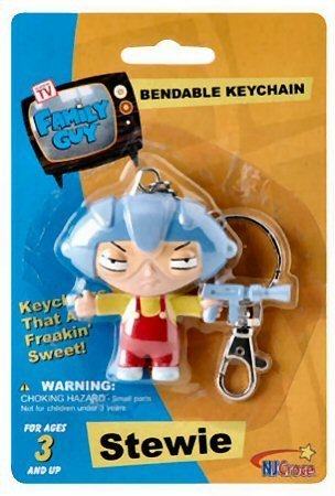 Family Guy Bendable Keychain - Family Guy Stewie Aviator Bendable Keychain