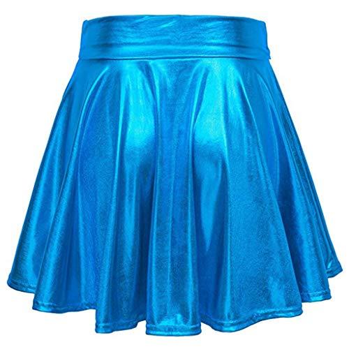 Smony - Falda Corta para Mujer, Informal, Color Puro, Falda Corta ...