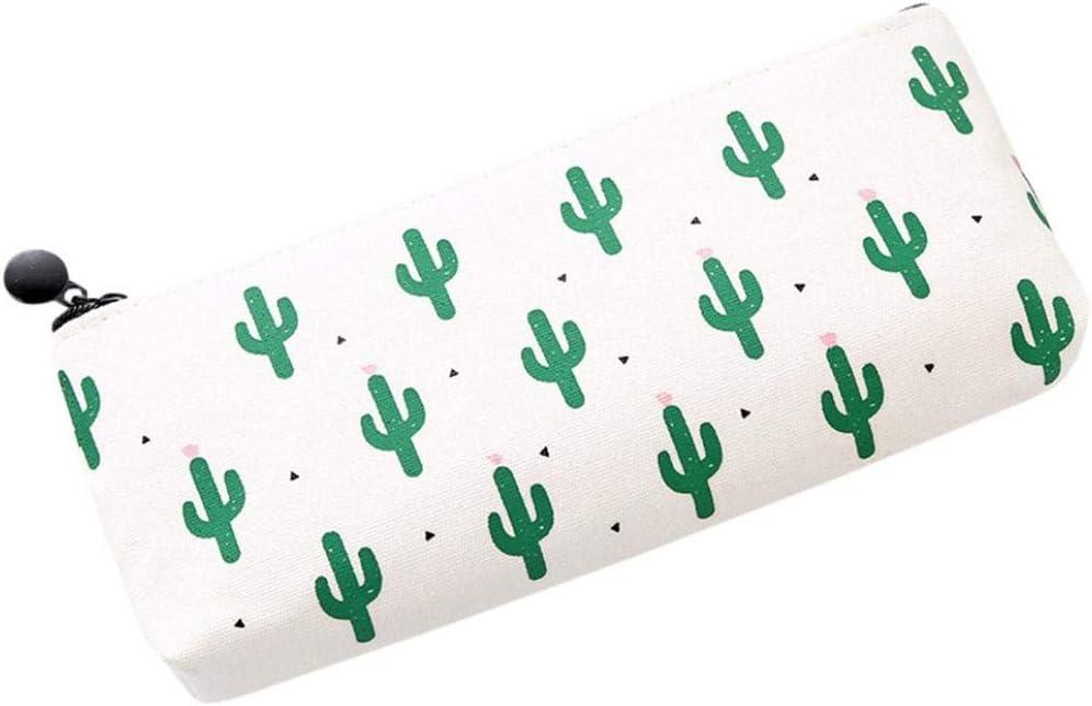 Jaminy Estuche de lápices, maquillaje de viaje, cosméticos, cactus, organizador de lavado de estuche, estuche para lápices de dibujos animados, color C *: Amazon.es: Oficina y papelería