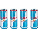 RED BULL SUGARFREE ENERGY DRINK,250 ML CAN (Pack of 4)
