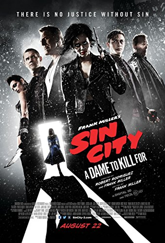 SIN CITY: A DAME TO KILL FOR - Movie Poster - FINAL - Double-Sided - VERSION B - 27x40 - Original - JESSICA ALBA - MICKEY ROURKE - EVA GREEN - ROSARIO DAWSON - JOSEPH GORDON LEVITT - JAIME KING - BRUCE WILLIS - JOSH BROLIN