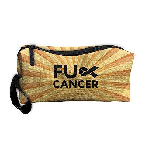 Largemouth Kit - FRTSFLEE Fck Cancer Handaes Portable Toiletry Cosmetic Bag Waterproof Makeup Make Up Wash Organizer Zipper Storage Pouch Travel Kit Handbag