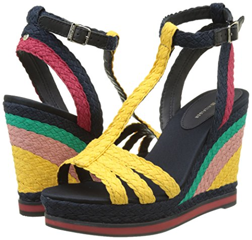 Sandals Gold 1s Women''s old Blue tango Hilfiger Wedge midnight 901 Heels Red V1285ancouver Tommy xwYt4SzqA