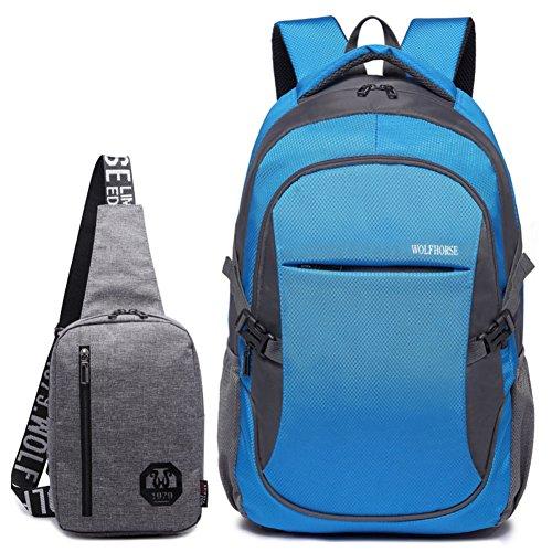Bolso de hombro de los hombres/[mochila]/Bolso de mujer/Academia los estudiantes de secundaria en las bolsas de viento/bolsos de la computadora de negocios casual-F F