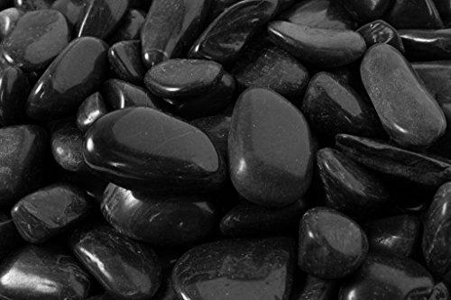Rainforest RFBRPS3-20 Super Polished Pebbles, Large, Black