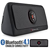 Bluetooth Speakers, Alpatronix AX440 Universal HD 30W Portable Wireless Bluetooth 4.1 Stereo Speaker w/ Subwoofer, 5400mAh Power Bank, MP3/Media USB, Volume/Playback & ON/OFF Switch Controls - Black