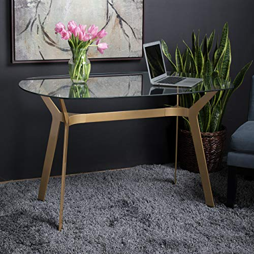 Studio Designs Home 71013 Archtech Modern Glass Desk/Dining Table, 48