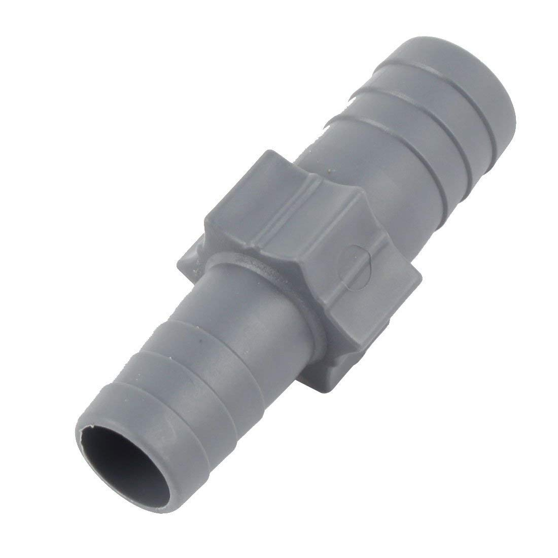 1Pc Aquarium Plastic Straight Tube Joiner Hose Pipe Fitting Adapter Connector Grey