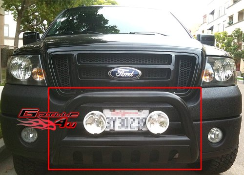 APS BB-FAK009B Black Bull Bar Bolt Over  - Ford Expedition Trim Fender Shopping Results