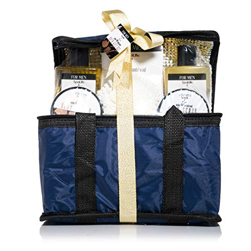 Spa Life All Natural Bath and Body Luxury Spa Gift Set Basket (Mens Sandalwood) 3