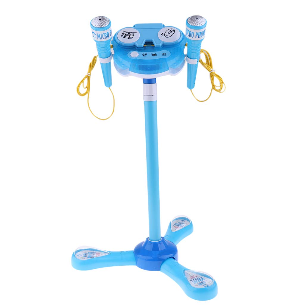 Prettyia 2Pieces Kids Disco Karaoke with Adjustable Mic & Speaker Stand,Connects to Phones & MP3 Players by Prettyia (Image #4)