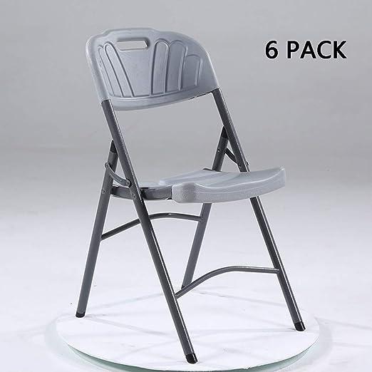MIMI KING Juego de 6 sillas Plegables Silla de Entrenamiento de ...