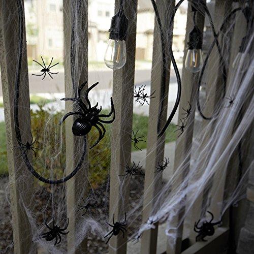 175 Pcs Halloween Spider Decorations - 160pcs Small Spider - 10pcs Medium Spider - 4pcs Big Spider - 1pcs 800 sqft Spider Web Decorations - Best Halloween Party Favor by Fun Holiday (Image #4)