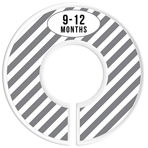 Delicush Baby Closet Dividers, Stripe, Chevron, Set of 6 Size Organizers, Nursery Closet Organizers, Baby Size Dividers, Glossy Finish, Boy, Girl (Grey) by DELICUSH (Image #5)