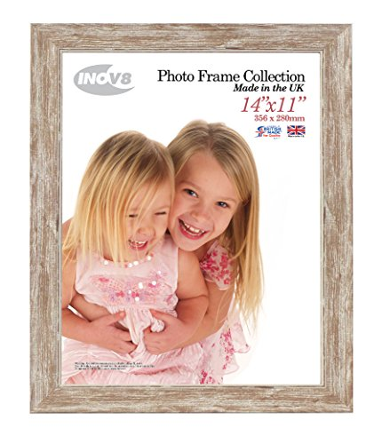 (Inov8 14 X 11-Inch Small British Made Traditional Picture/Photo Frame, Pack Of 4, Wash Walnut)