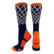 MadSportsStuff Basketball Net Athletic Crew Socks (multiple colors)