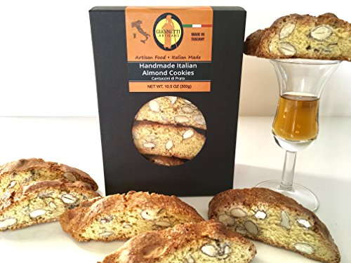 Giannetti Artisans Handmade Italian Almond Biscotti - Imported from Prato, Italy 10.58 oz (Biscotti Tuscan Italian)