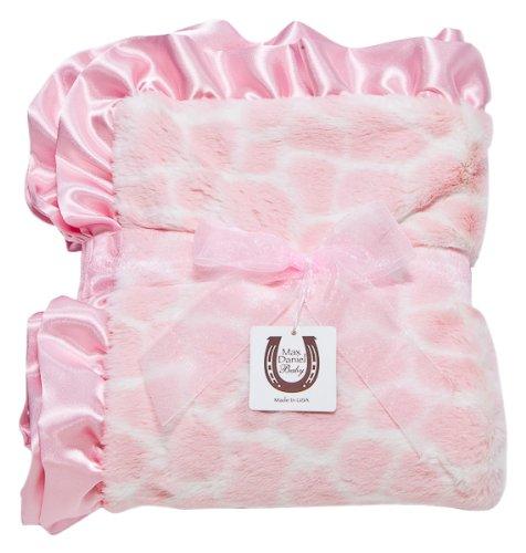Max Daniel Baby Throw Blanket, Pink Giraffe