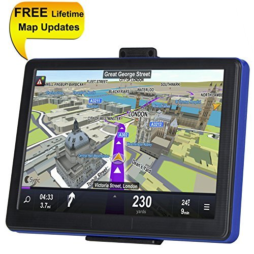 TSWA Navigation System for Cars, 7 inch 8GB Lifetime Map Updates Car GPS Spoken Turn-to-turn Vehicle GPS Navigator