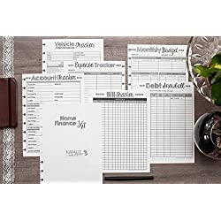"Home Finance Kit for the Happy Planner, 1 Year Supply, Budget, Expense Tracker, Debt Snowball, 7""x9.25"" (Planner Not Included)"