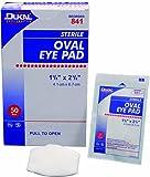 Dukal Oval Eye Pad, 1-5/8''x2-5/8'', Sterile, 1/pk 50pk/bx 12bx/cs 12 pcs sku# 1303836MA
