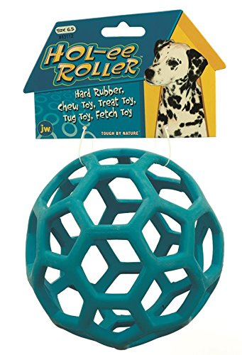 JW Pet 43112 Tough by Nature Hol-ee Roller, Size-6.5, Colors May Vary