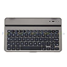 "FOME QWERTY Slim Bluetooth Aluminum Metal Keyboard Case for Samsung Galaxy Tab S 8.4"" Golden bottom/black plastic keys + A FOME Gift"