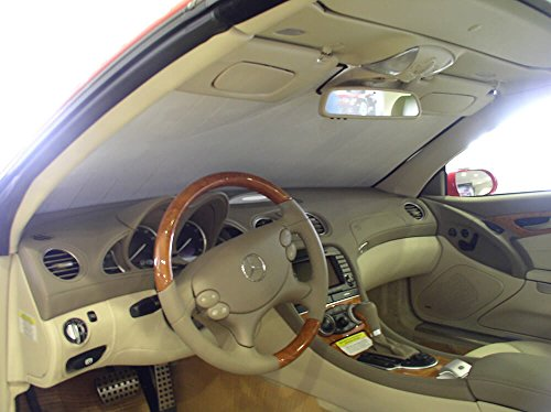 - HeatShield The Original Auto Sunshade, Mercedes-Benz SL55 AMG Convertible 2003, 2004, 2005, 2006, 2007, 2008, Silver Series