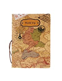 MagiDeal Brown World Trip Passport Card Protector PVC Leather Holder for UK Passport