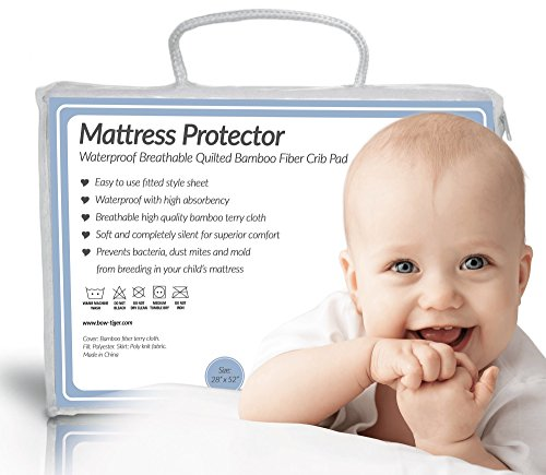 Soft Waterproof Fitted Quilted Crib & Toddler Mattress Prote