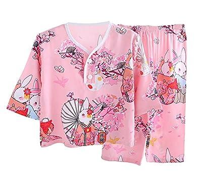 LLIOFUS Little Boys&Girl confortable cotton Pjs Elastic waised Pajama set 6M-6T