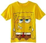Nickelodeon Little Boys' SpongeBob License Big T-Shirt, Yellow, 5/6