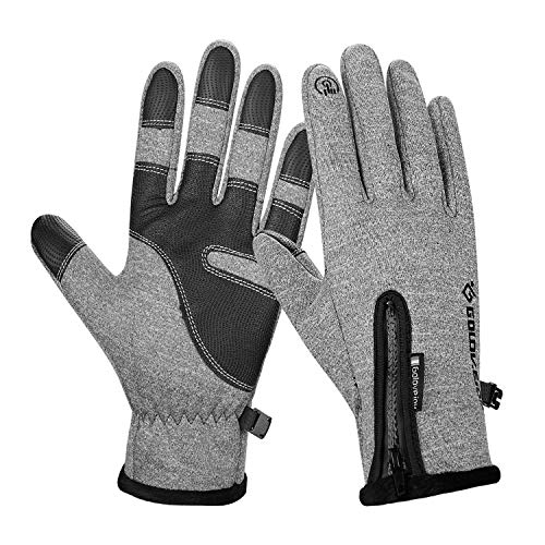 Anqier Winter Sports Gloves,Touchscreen Warm Windproof Thermal Gloves Outdoor Cycling Driving Running Skiing Gloves for Men Women