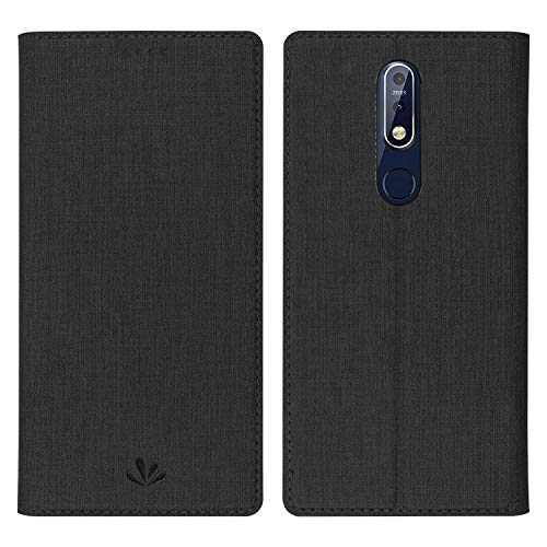 Simicoo OnePlus 6T Flip PU Leather Slim Fit case Card Holster Stand Magnetic Cover Clear Silicone TPU Full Body Shockproof Pocket Thin Wallet Case for OnePlus 6T One Plus 6T 1+6T McLaren (Black)