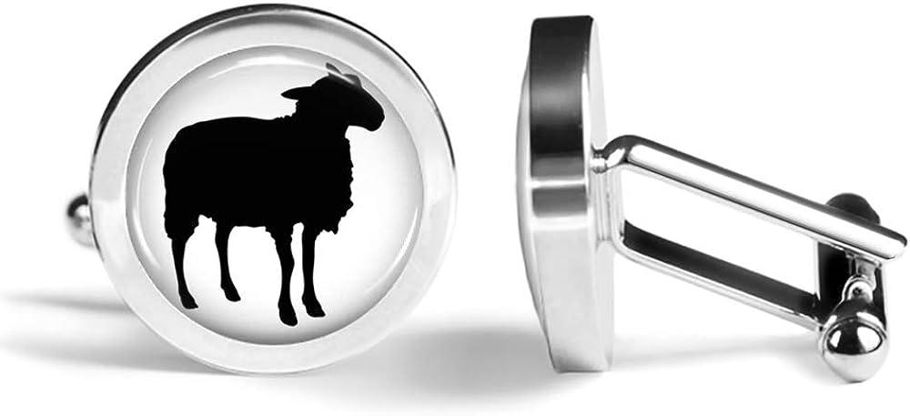 Oakmont Cufflinks Sheep Cufflinks Sheeps Cuff Links Angled Edition