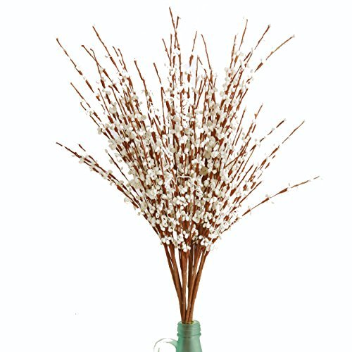 MISSWARM 10 Pieces 295quot Long of Jasmine Artificial Flower Artificial Flowers Fake Flower for Wedding Home Office Party Hotel Restaurant Patio or Yard DecorationWhite