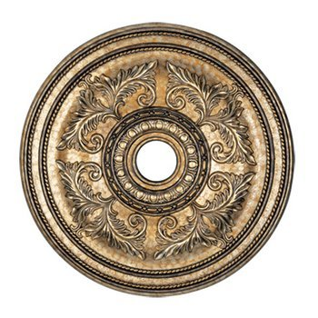 Livex Lighting 8210-65 Ceiling Medallion, Hand Painted Vintage Gold Leaf - Hand Painted Ceiling Light