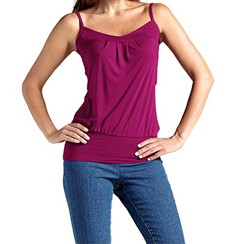Goddessvan Clearance Deal ! Women's Summer Sleeveless V Neck Strap Vest Cotton Tank Tops Camis (L, Purple)