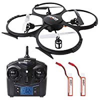 SGILE Mini RC UFO Quadcopter Nano Drone with 2 Free Batteries, 360° Flip One Key Return/Rotation Recover Balance Headless Mode for Kids by SGILE