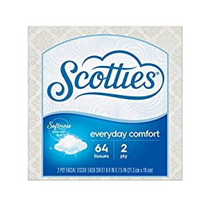 Scotties Everyday Comfort Facial Tissues, 64 Tissues per Box (Pack of 24)