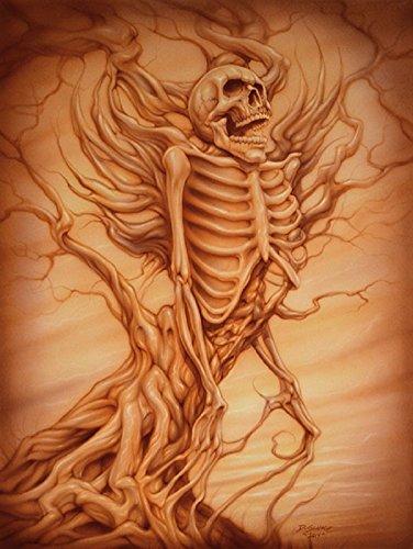 (Tree of Evil by Dan Scholz Skeleton Rebirth Tattoo Framed Wall Decor Art Print)