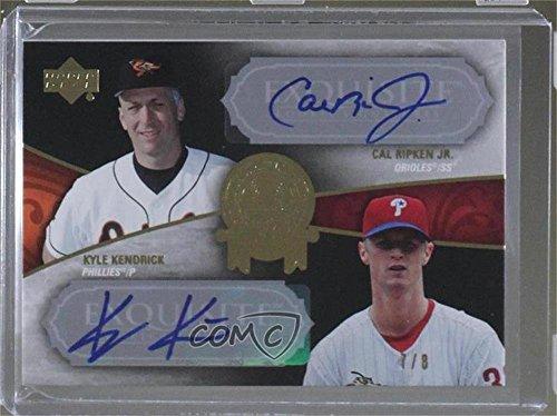 Cal Ripken Jr.; Kyle Kendrick #7/8 (Baseball Card) 2007 Upper Deck Exquisite Rookie Signatures - Cal Ripken Jr. All Rookie Team #RAR-30