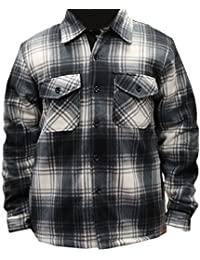 Woodland Supply Co. Men's Heavy Warm Fleece Sherpa Lined Zip Up Jacket