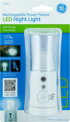 Ge Rechargeable Led Power Failure Night Light White New