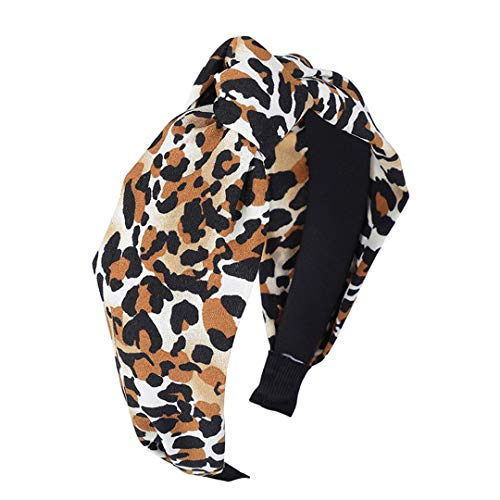 Soft Hairband For Women Winter Leopard Print Headband Top Knot Hair Accessories Girls Headwear Fashion Female Hair Hoop ()