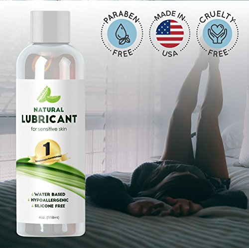 Personal Lubricant for Women and Men - Water Based Lube with Aloe & Carrageenan – Natural PH Balance - Formulated for Sensitive Skin & Sex - Long Lasting Formula - Paraben Free - Silicone Free